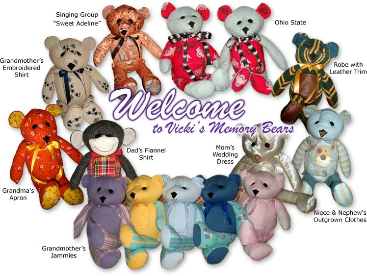 Welcome to Vicki's Memory Bears